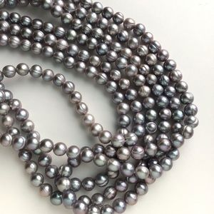 Genuine Freshwater Pearl Long Infinity Necklace